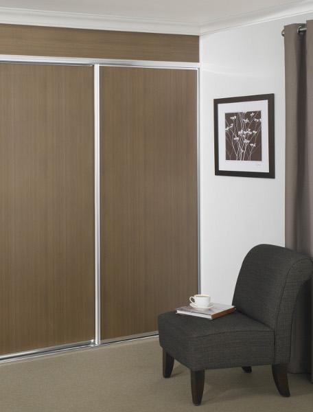 Colour And Timber Print Wardrobe Doors
